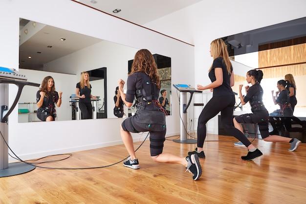Ems ćwiczenia Elektryczne Stymulacji Kobiet Premium Zdjęcia