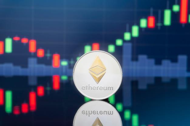 Ethereum i koncepcja inwestowania w krypto-walutę. Premium Zdjęcia