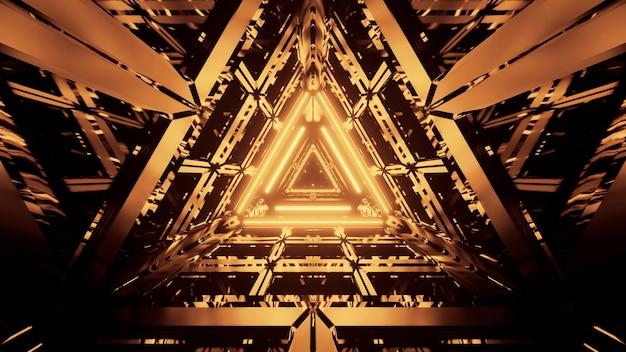 Fajne Futurystyczne Streszczenie Tło Z Neonów Darmowe Zdjęcia