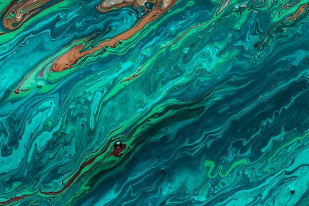 Fale oceanu farby akrylowe artystyczne tekstury Darmowe Zdjęcia