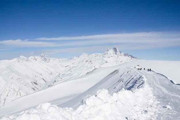 Fantastyczny zimowy krajobraz Premium Zdjęcia