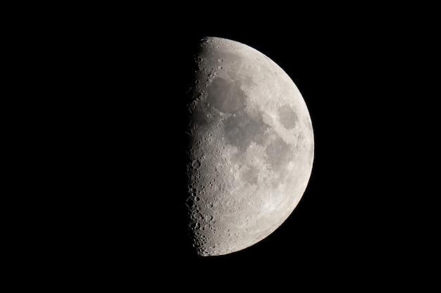 Fazy księżyca. półksiężyca tło. Premium Zdjęcia
