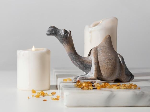 Figurka Wielbłąda Z Rodzynkami I świecami Darmowe Zdjęcia