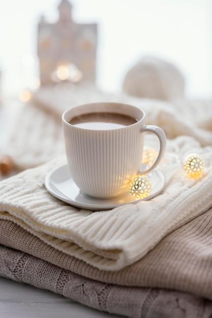 Filiżanka Herbaty I Ciasteczka Premium Zdjęcia