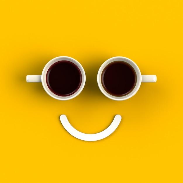 Filiżanka Kawy W Formie Uśmiechu Premium Zdjęcia