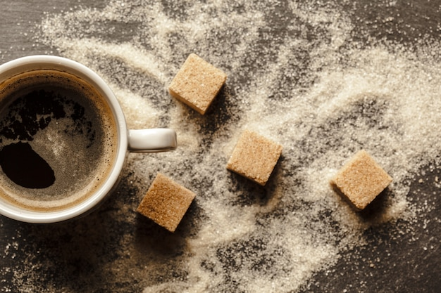 Filiżanka Kawy Z Cukrem Premium Zdjęcia