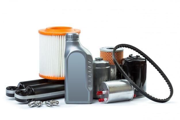 Filtry Oleju Samochodowego I Olej Silnikowy Mogą Być Odizolowane Premium Zdjęcia