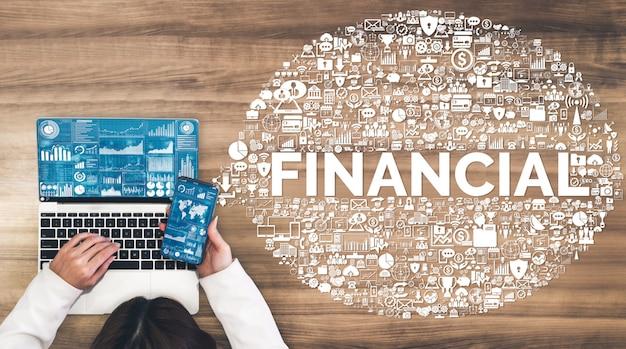 Finanse i technologia transakcji pieniężnych Premium Zdjęcia