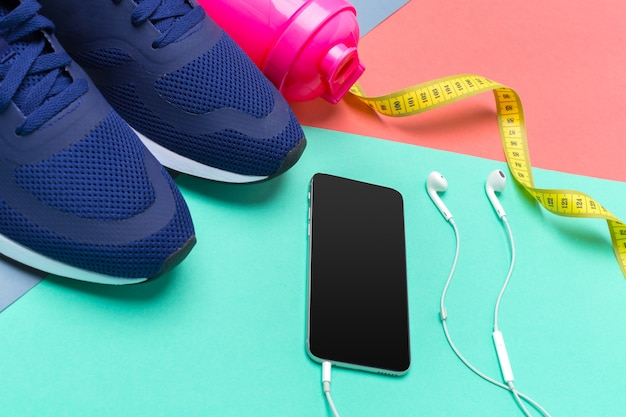 Fitness Sportowy Ze Sprzętem Do ćwiczeń Premium Zdjęcia