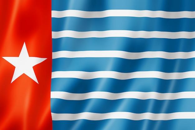 Flaga Aborygenów Papui Zachodniej Nowej Gwinei Premium Zdjęcia