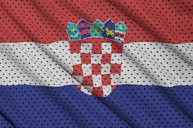 Flaga chorwacji wydrukowana na nylonowej siatce z poliestru Premium Zdjęcia