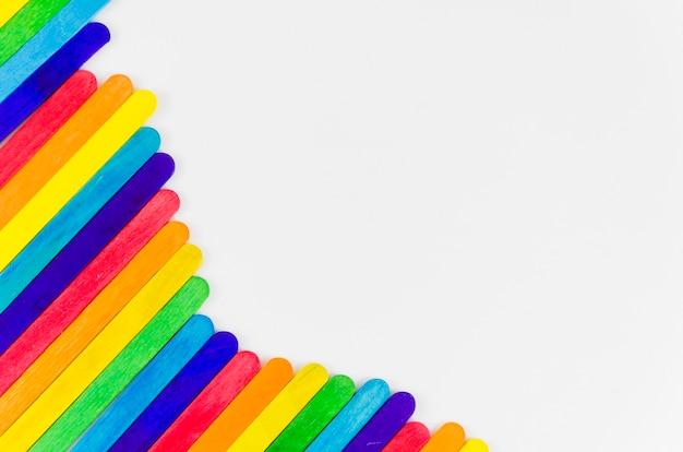 Flaga Dumy Z Kolorowymi Kijami Darmowe Zdjęcia
