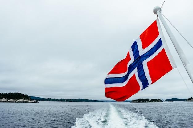 Flaga Norwegii Premium Zdjęcia