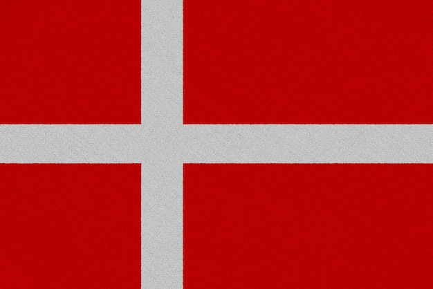 Flaga Tkaniny Danii Premium Zdjęcia