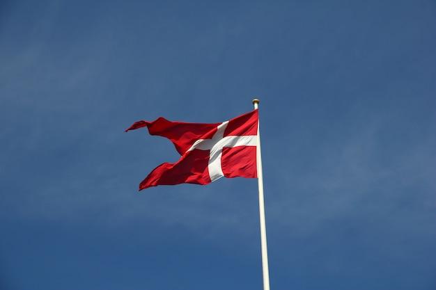 Flaga W Kopenhadze, Dania Premium Zdjęcia