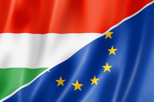 Flaga Węgier I Europy Premium Zdjęcia
