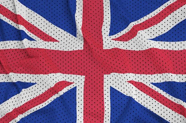 Flaga wielkiej brytanii wydrukowana na siatce z nylonu poliestrowego Premium Zdjęcia