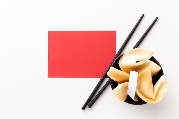 Fortune Cookie I Makiety Karty Chiński Nowy Rok Darmowe Zdjęcia