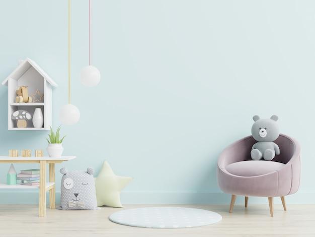 Fotel I Zabawki W Pokoju Dziecięcym Premium Zdjęcia