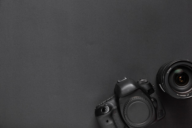 Fotografii pojęcie z kamerą i obiektywami z kopii przestrzenią Darmowe Zdjęcia