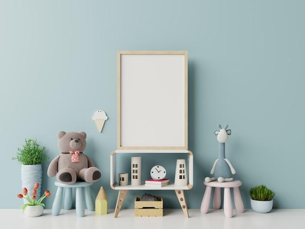 Frameframe we wnętrzu pokoju dziecięcego. Premium Zdjęcia