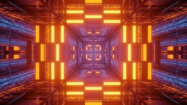 Futurystyczne Neony W Korytarzu Tunelu Darmowe Zdjęcia