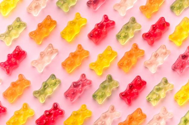Galaretki Niedźwiedzie Wzór Premium Zdjęcia