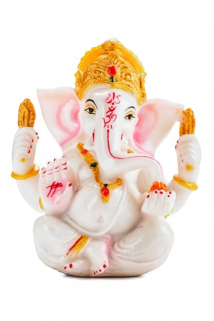 Ganesha Statua Na Bielu Premium Zdjęcia