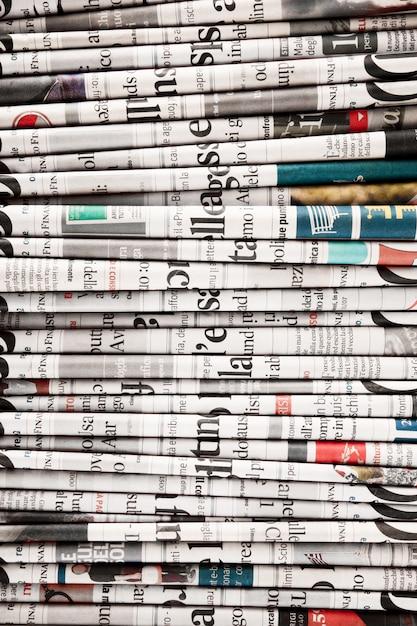 Gazety Złożone, Tworząc Tło Premium Zdjęcia