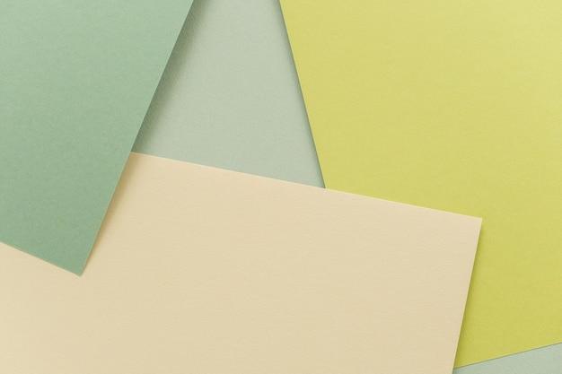 Geometryczny Papierowy Tło, Tekstura Zieleni Cienie. Tło Dla Swojego Projektu. Pastelowe Kolory Na Wiosnę Premium Zdjęcia