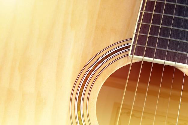 Gitara Akustyczna W Tle Premium Zdjęcia