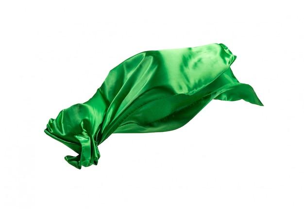 Gładka Elegancka Przezroczysta Zielona Tkanina Oddzielona Na Białym Tle Darmowe Zdjęcia