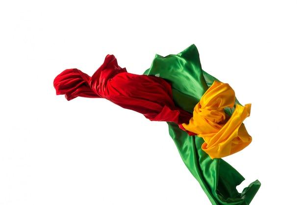 Gładka Elegancka Przezroczysta żółta, Czerwona, Zielona Tkanina Rozdzielona Na Biały Darmowe Zdjęcia
