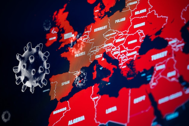 Globalna Pandemia Wirusa Koronawirusa Covid-19 Premium Zdjęcia