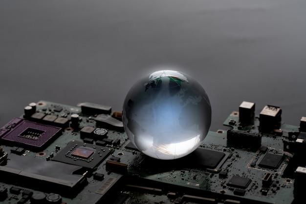 Globalna Sieć Koncepcji Technologii Premium Zdjęcia