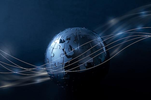 Globalna Sieć Technologii I Przyszłości Premium Zdjęcia