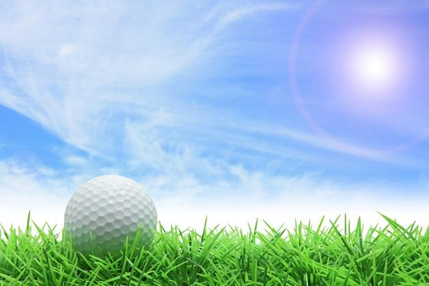 Golf niebieskie niebo Premium Zdjęcia