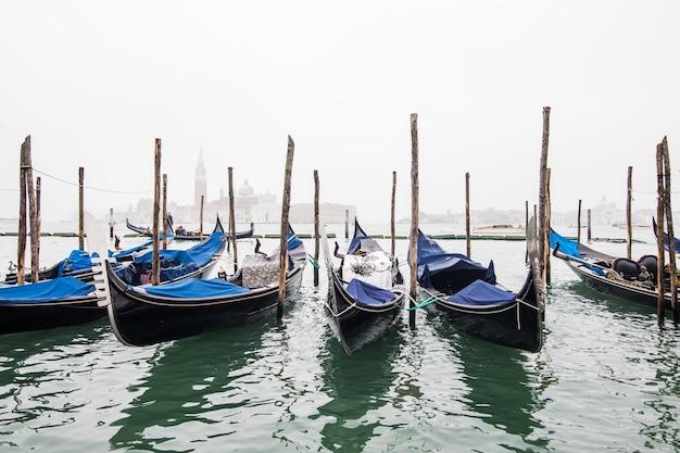 Gondole W Lagunie Wenecji Na Wschód, Włochy Darmowe Zdjęcia