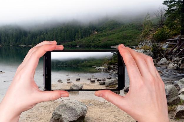 Góra Do Jeziora Morskie Oko Pod Zakopanem, Tatry Premium Zdjęcia