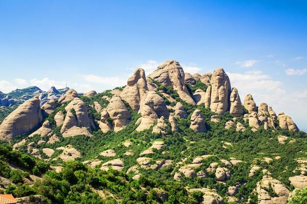 Góra montserrat, katalonia, barcelona Premium Zdjęcia