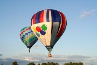 Gorące Powietrze Balony Cyan Darmowe Zdjęcia
