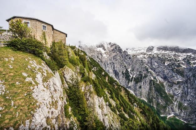 Górny Szczyt Kehlsteina Powyżej Obersalzberg Premium Zdjęcia