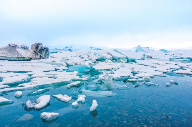 Góry Lodowe W Zalewie Lodowcowym, Islandia. Darmowe Zdjęcia