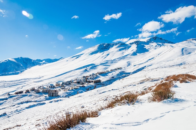 Górzyste Krajobrazy Pokryte śniegiem W Andach Darmowe Zdjęcia