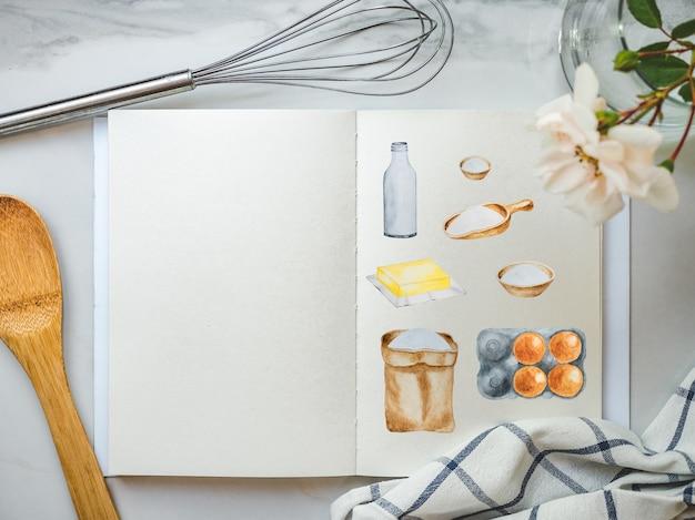 Gotowanie Na Domowe Ciasta. Pyszne I Zdrowe Jedzenie Premium Zdjęcia