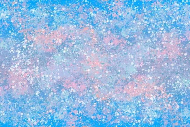 Graficzna Ilustracja Dynamicznej Tekstury Farby W Zimowych Odcieniach Pastelowych Premium Zdjęcia