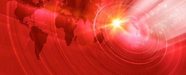 Graficzny Nowoczesny Cyfrowy świat Banner Premium Zdjęcia