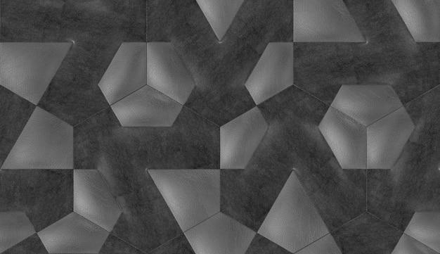 Grafika Trójwymiarowa Abstrakcyjnego Wzoru Premium Zdjęcia