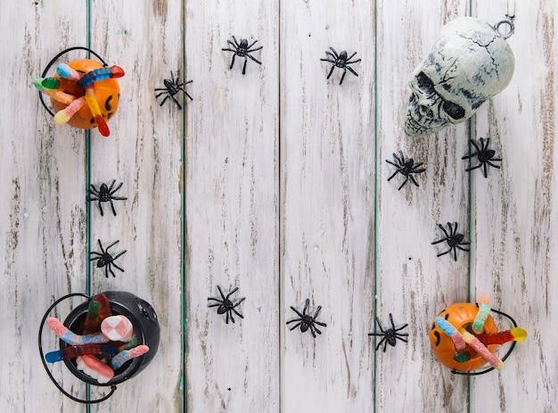 Granica z pająków i kosze Darmowe Zdjęcia