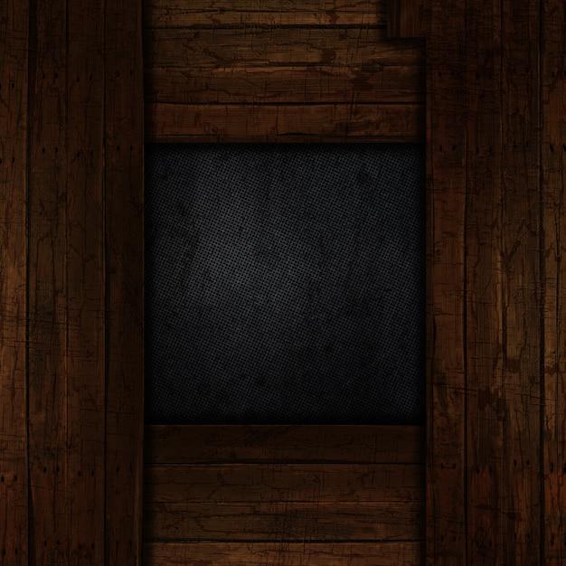 Grunge Metalowe Tło Z Stare Wyblakły Obramowanie Drewna Darmowe Zdjęcia
